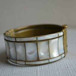 Jewelry - Vintage Mother of Pearl Cuff Bracelet